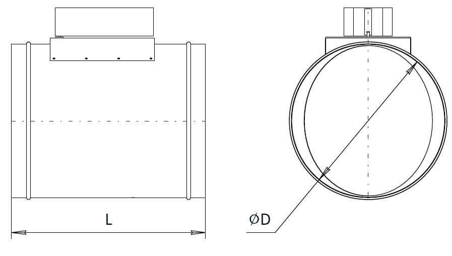 Дроссель клапан для круглых каналов