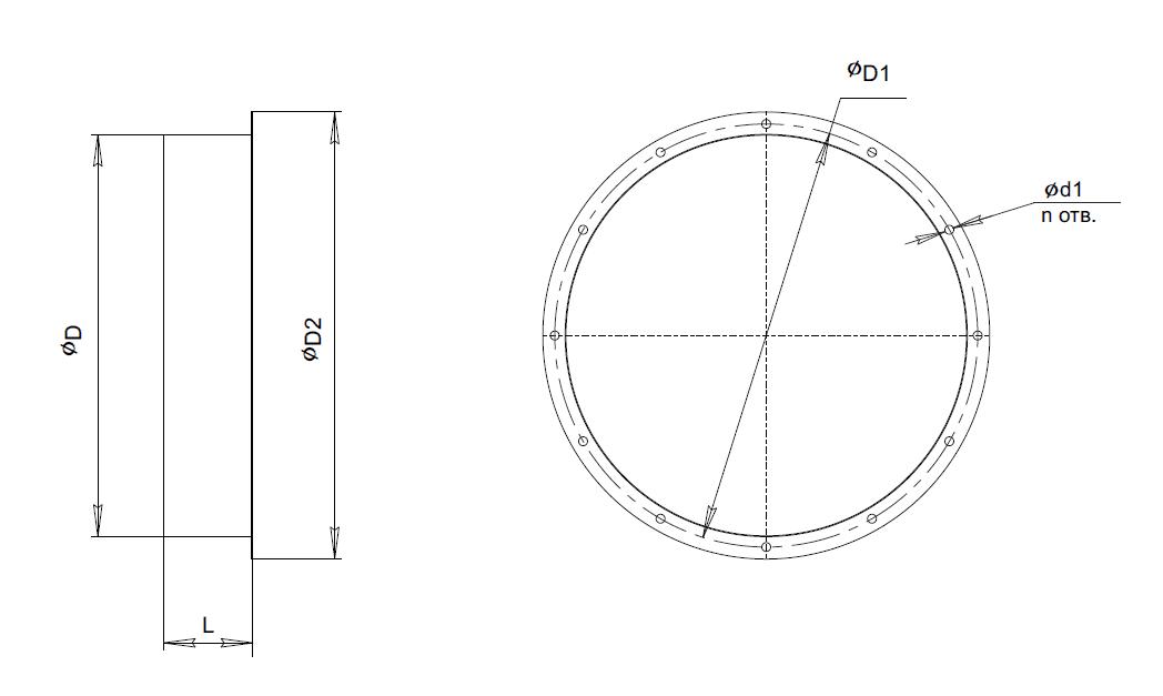 Фланец ответный ФО-25-188