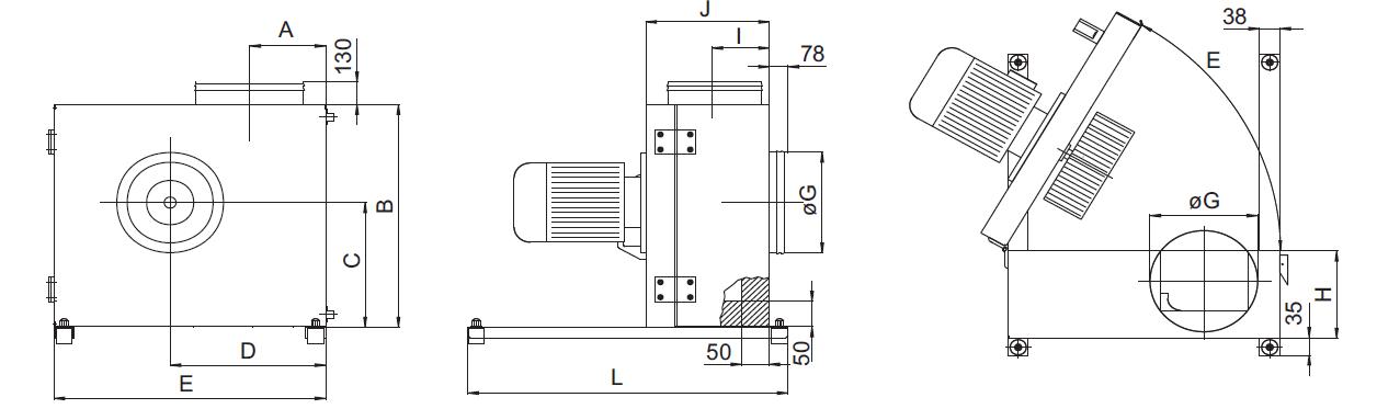 Вентиляторы радиальные кухонные КВР