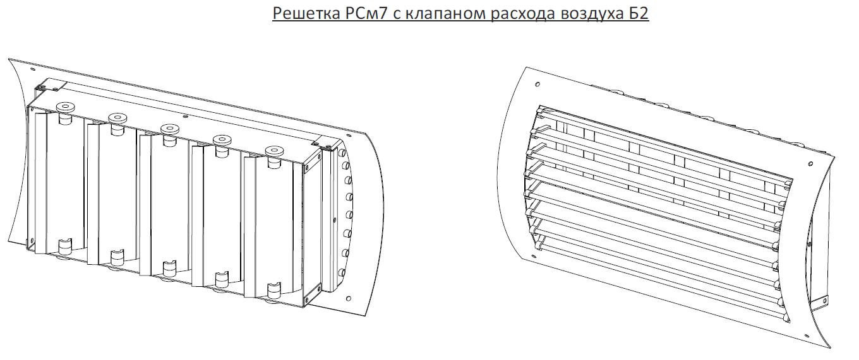 Решетки регулируемые для круглых воздуховодов