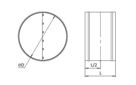 Клапан обратный RSK для круглых каналов
