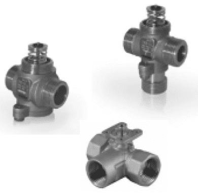 Клапаны регулирующие двух- и трехходовые с электроприводом