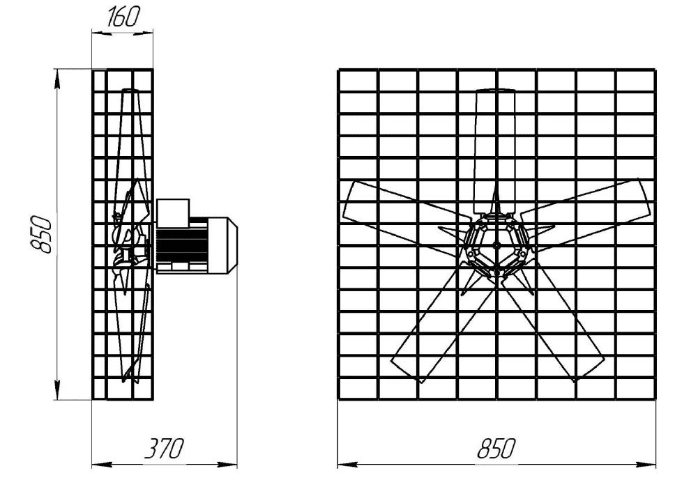 Вентилятор вертикальный разгонный MTF-71-6D
