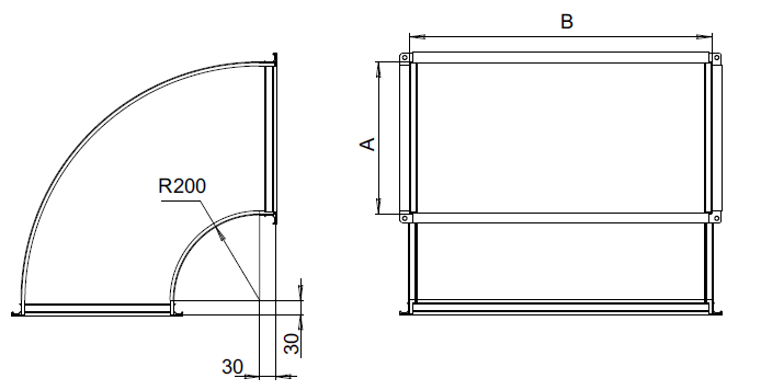 Отводы прямоугольного сечения