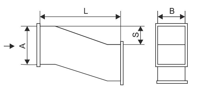 Утка для прямоугольных воздуховодов