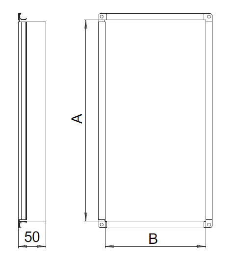 Заглушка для прямоугольных воздуховодов